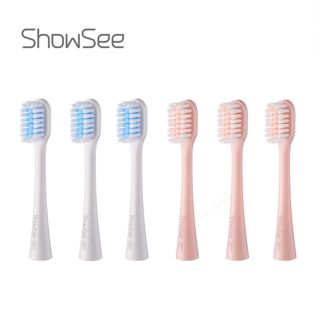 XIAOMI MIJIA ShowSee Sonic Electric Toothbrush Heads 3PCS Smart Toothbrush DuPont brush head Mini Mi Clean Sonic Oral Hygiene