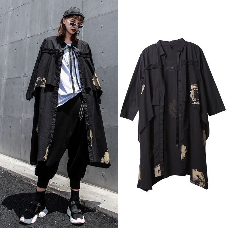 Windbreaker Jacket Trend Female Long Fashion New Loose Comfortable Casual