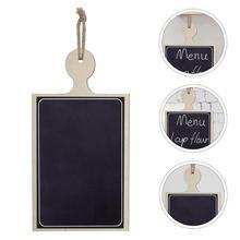 Online store 1pc Creative Mini Hanging Wooden DIY Blackboard Menu Display Drawing Board