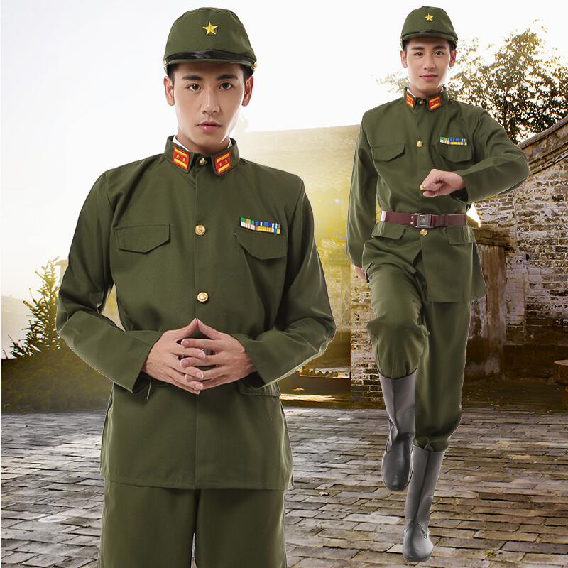 WW II Japanese Imperial Officer Traditional Vintage Wear Green Uniform Japanese Army Costume WW2 Unique Military Clothing  Japan