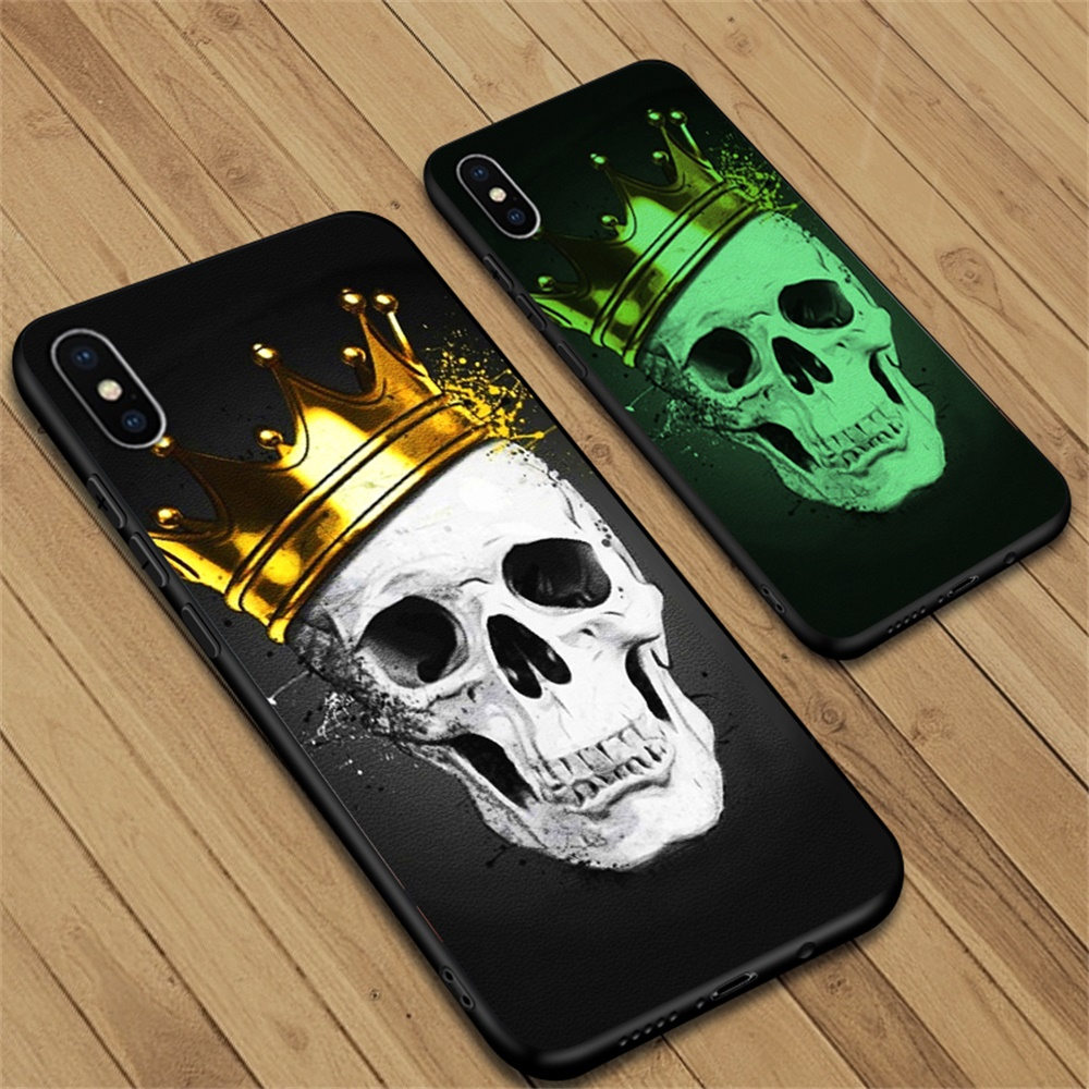 Phone Case For <font><b>iPhone</b></font> 5 <font><b>5s</b></font> SE 6 6S 7 8 Plus Case Leather Luxury Luminous Light Glowing Back Cover <font><b>Funda</b></font> Coque Protective Bumper image