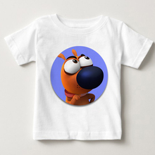 Pat The Doy Children's Fashionable Summer Wear Funny Puppy T-shirt Boy and Girl's Favorite Cartoon T-shirt Pure Cotton Clothing fashionable sochi faulty olympic rings pattern cotton t shirt black xl