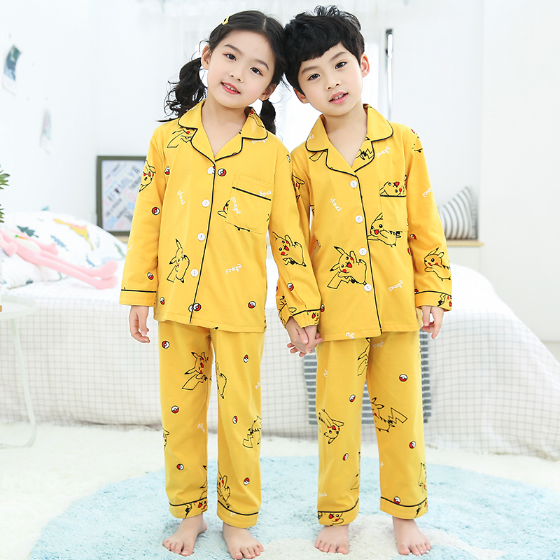 Girls Pajamas 2020 Spring Autumn Long Sleeve Children's Sleepwear Set Cotton Pajamas Set Boys Pyjamas Sets For Kids Tracksuit