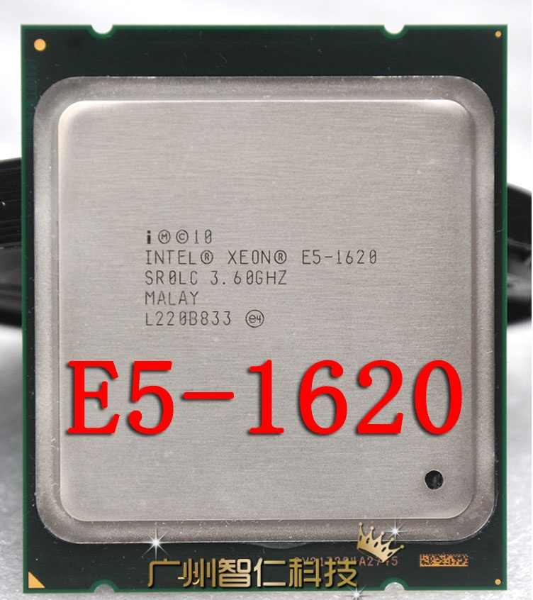 Intel Xeon E5 1620 3.6 Ghz Quad-Core a Otto Thread di Cpu Processore 130W Lga 2011