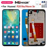 Tela para huawei p20 lite tela lcd para huawei p20 lite ANE-LX1 ANE-LX3 display nova 3e peças de montagem lcd