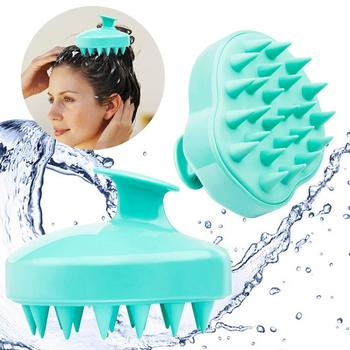 YBLNTEK Handheld Silicone Scalp Shampoo Massage Brush Washing Shower Hair Comb Mini Head Meridian Massage Comb Wide Tooth