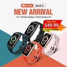 Em Estoque! Versão global huawei banda 6 banda inteligente pulseira de fitness 2-weeks standby 1.47