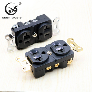 Image 4 - 1Pcs 2Pcs Xssh Audio Zuiver Koper Verguld Rhodium 20amp 20A 125V Amerika Standaard Ons Stopcontact elektrische Outlet