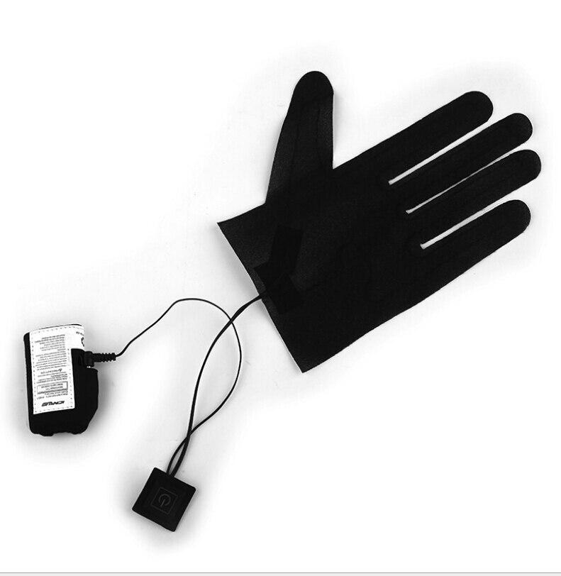 Пара нагревательных перчаток с 5 пальцами, литиевый аккумулятор, источник питания с переключателем термостата на три скорости, нагреватель...