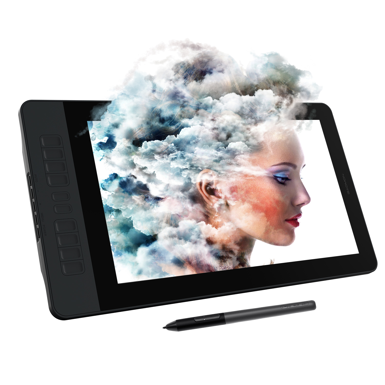 Moniteur de tablette de dessin graphique 15.6 pouces IPS HD gapacket PD1561 fonction d'inclinaison de soutien NTSC 72% avec stylo sans batterie à 8192 niveaux