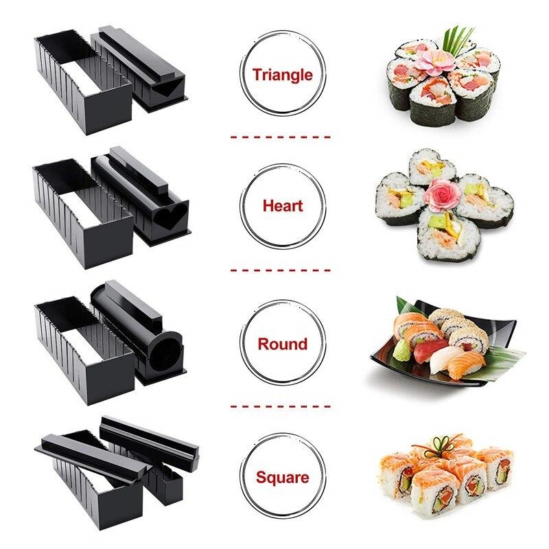 10 Stks set Diy Sushi Maken Kit Roll Sushi Maker Rice Roll Mold Keuken Sushi Gereedschap