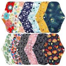 Bamboo Charcoal Reusable Menstrual Pads Feminine Hygiene Washable Maternity Pads Waterproof PUL Panty Liner Sanitary Napkins
