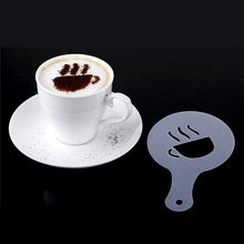 16 Pcs/set Design Coffee Latte Cappuccino Barista Art Stencils Cookie Cupcake Latte Coffee Print Mold Cake Decorating Tools(China)
