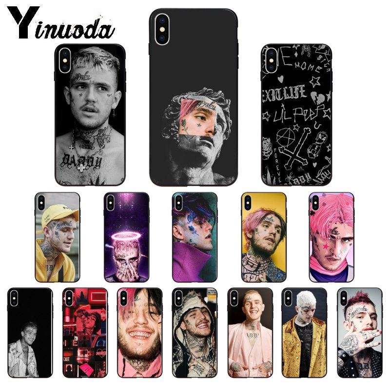 Yinuoda Rapper <font><b>Lil</b></font> <font><b>Peep</b></font> TPU Soft Phone Accessories Phone <font><b>Case</b></font> for Apple <font><b>iPhone</b></font> <font><b>8</b></font> 7 6 6S Plus X XS MAX 5 5S SE XR Cellphones image