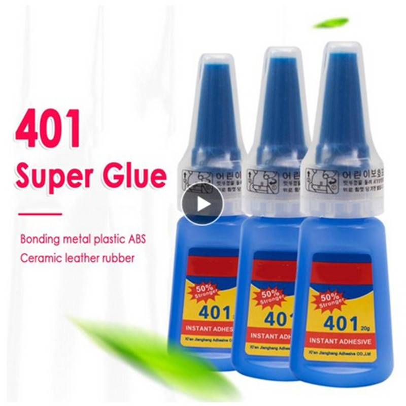 10 5PCS Super 401 Glue Stronger 20g Bottle Rapid Fix Instant Fast Adhesive Quick Dry Jewelry Stone Glue Wholesale Office Home