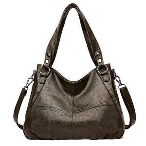Image 3 - Moda hakiki deri çanta bayanlar büyük kapasiteli tasarımcı büyük Tote çanta kadınlar için lüks omuzdan askili çanta bayan çanta