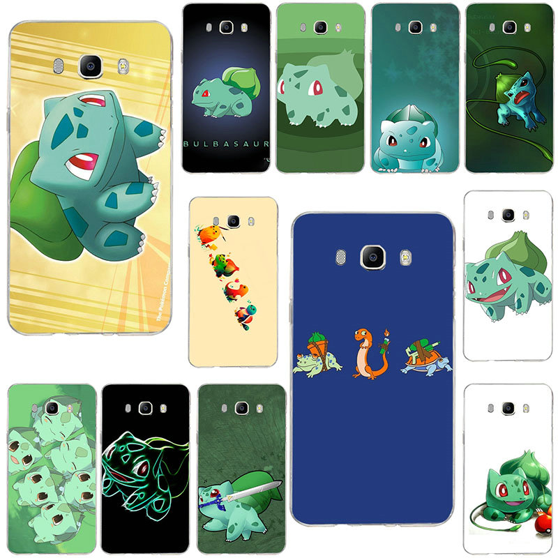 Hot Pokemons Bulbasaur Soft <font><b>Silicone</b></font> <font><b>Case</b></font> TPU Phone <font><b>Case</b></font> for <font><b>Samsung</b></font> Galaxy Core A3 <font><b>A5</b></font> A7 A8 A9 A9S Star <font><b>2016</b></font> 2017 2018 Pro image