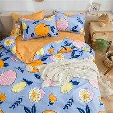 bedding set 5 size green leaf bedding set duvet cover set Korean bed sheet duvet cover