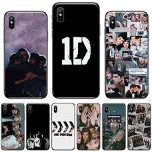 One Direction Louis band Black TPU Soft Phone Cover For iphone 5 5s 5c se 6 6s 7 8 plus x xs xr 11 pro max