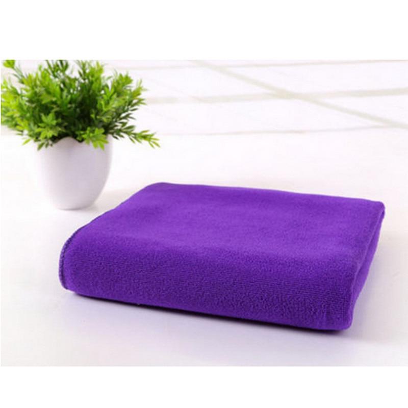 70x140cm Microfiber Absorbent Drying Bath Beach Towels Washcloth Swimwear Shower Bathtowel Cloth 14 Style Solid Color