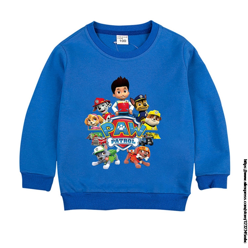 Sweaters For Boys Spring Casual Cotton Warm Boys Paw Patrol Sweaters And Pullovers Cartoon Pattern Children's Sweater Clothes