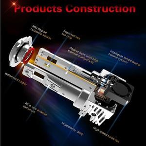 Image 3 - Yaxial Light Mini H4 Led Hi/Lo H7 Led faro H11 H1 lampadina auto 9005 hb3 9006 hb4 H8 H9 aggiornamento lampada 55w 12000lm fendinebbia 6500K
