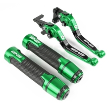 Motorcycle Brake Clutch Lever & 7/8 Handlebar Grips For KAWASAKI ER6N 2009 2010 2011 2012 2013 2014 2015 2016 Accessories