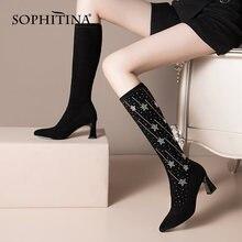 Sophitina/модные женские сапоги; Нескользящие сапоги до колена