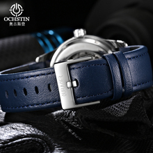 Luxury Skeleton Automatic Mechanical Watches Mens Fashion Watch Leather Sport Businness Wristwatch Male Clock Relogio Masculino