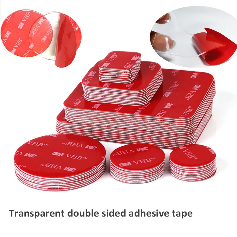 50pcs Transparent Acrylic Double-sided Adhesive Tape VHB Strong Adhesive Patch Waterproof No Trace High Temperature Resistance