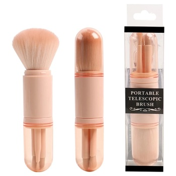 New Portable Multifunctional Extension-type Retractable Eye Makeup Beauty Brush Tools  4 In 1 Cosmetics Set