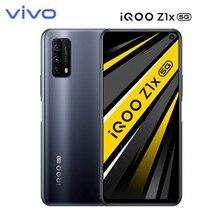 Vivo iqoo z1x duplo-modo 5g telefone móvel 8gb + 256gb snapdragon 765g 5000mah grande bateria 120hz tela de corrida android telefone inteligente