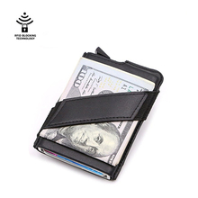 Wholesale Women Men Credit Card Holders Business ID Card Case Fashion Automatic RFID Card Holder Aluminium Bank Card Wallets