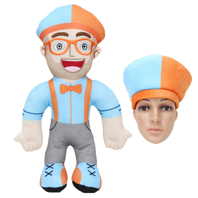 Blippi Plush Doll  Cosplay Prop Hat Kids Love Birthday Gift Cute Kawaii Pillow For Baby Gift