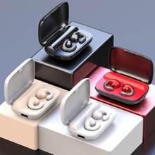 5,0 Bluetooth Kopfhörer Wireless Headset PK GT1 Hängen Kopfhörer HD Drahtlose Kopfhörer Anruf Binaurale Ohr Leitung Knochen E9T9