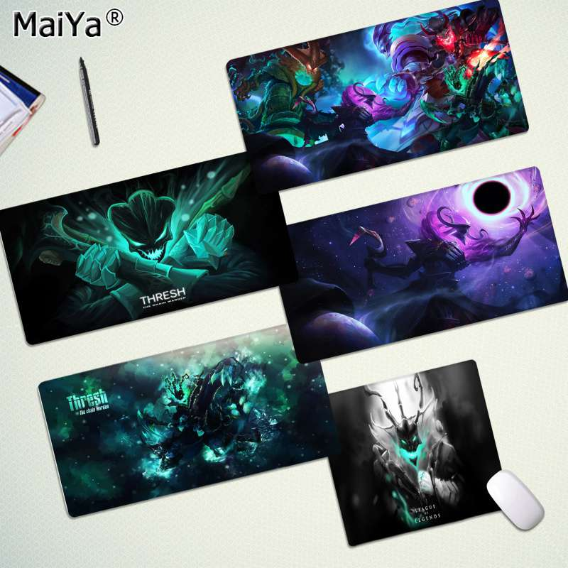 Maiya In Stocked LOL Thresh Rubber PC Computer Gaming Mousepad Rubber PC Computer Gaming Mousepad