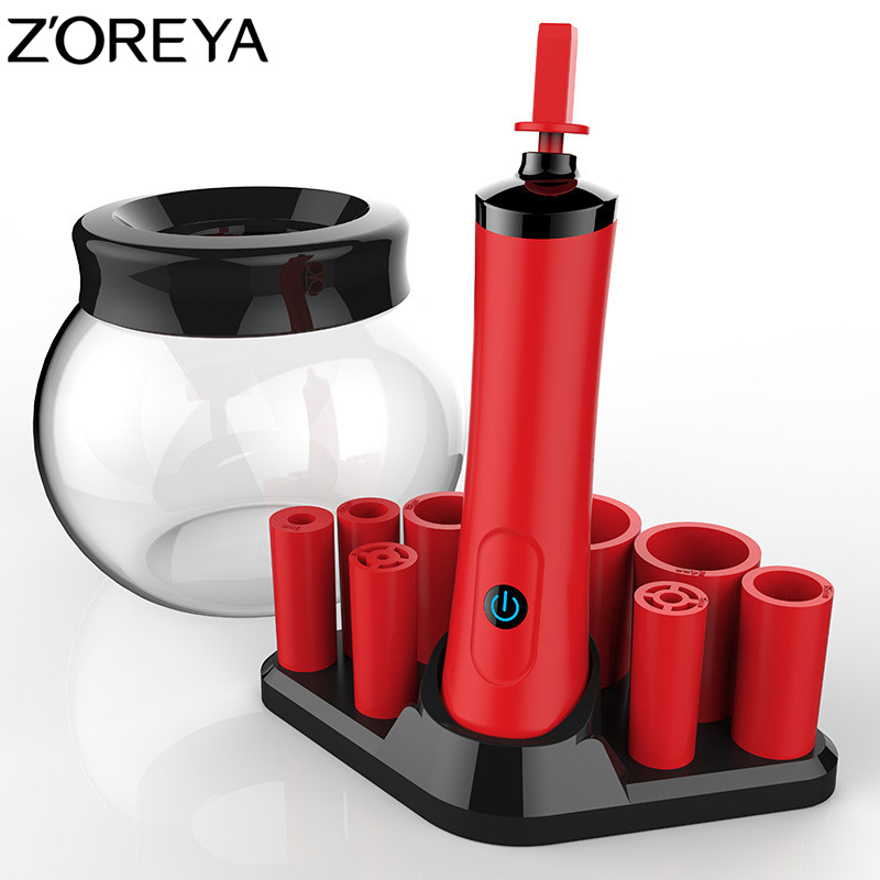 ZOREYA Electrical Make Up Brush Cleaner Professional Makeup Washing Tool Efficient 10 Seconds Brush Cleaning Machine