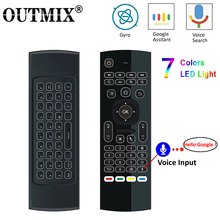 MX3 MX3 L תאורה אחורית אוויר עכבר T3 חכם קול שלט רחוק 2.4G RF אלחוטי מקלדת עבור X96 מיני KM9 A95X h96 מקסימום אנדרואיד טלוויזיה תיבה