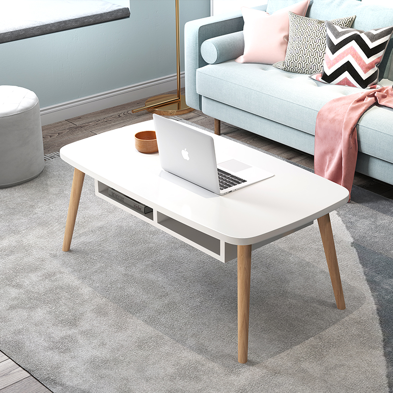 Contemporary Tea Table Small Family Real Wood The Nordic Ins Small Home Sitting Room Tea Table Of Europe Type Window
