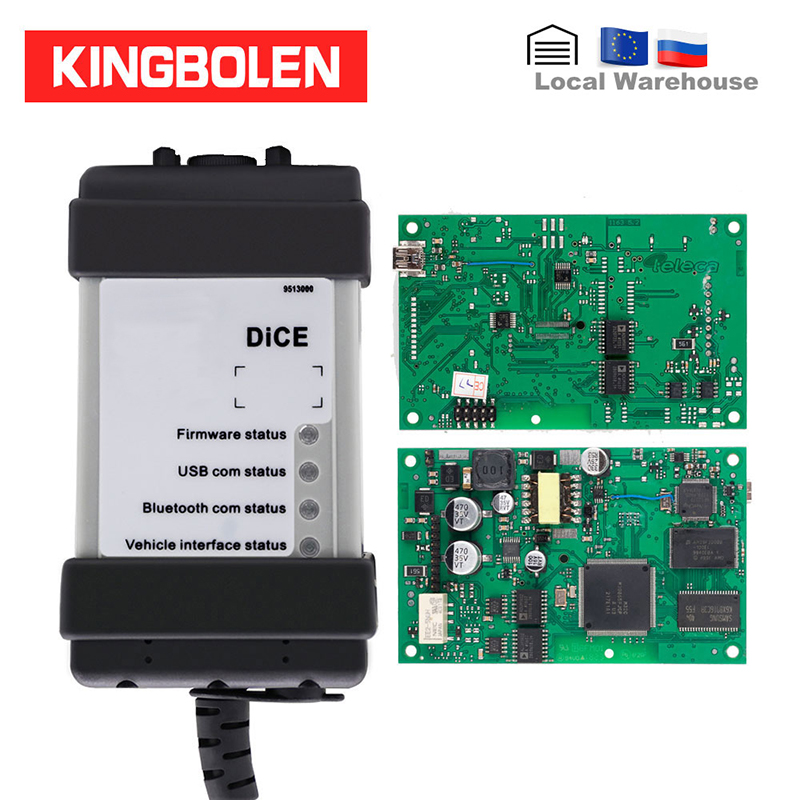 For Volvo Vida Dice Pro 2014D Full chip Diagnostic Tool Green Main Board OBD2 Multi Language Auto OBDII Scanner on