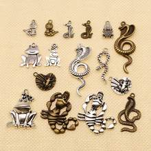 1 Piece Charm For Making Jewelry DIY Animal Frog Snake Scorpion Cobra Scorpion Skull HJ033(China)