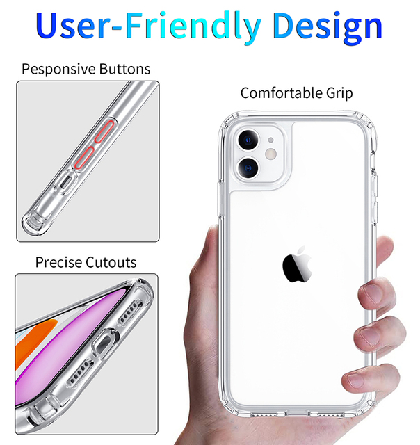 Shockproof Luxury Clear Transparent Silicone Phone Case For iphone 5 5S SE 6 6S 7 8 X XS 11 Pro MAX XR Plus 2020 Protection Case 4