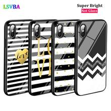 Black Cover Black white Stripe for iPhone X XR XS Max for iPhone 8 7 6 6S Plus 5S 5 SE Super Bright Glossy Phone Case black cover lovely cat for iphone x xr xs max for iphone 8 7 6 6s plus 5s 5 se super bright glossy phone case