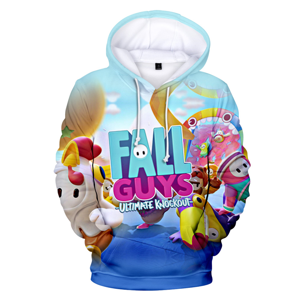 2020 New Game Fall Guys: Ultimate Knockout Kawaii 3D Print Hooded Sweatshirt Men/Women Casual Hoodies Clothes