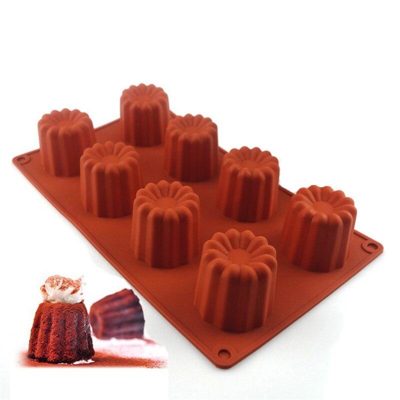 Caneles Silicone Cake Mold Bordelais Fluted Cake Pudding Mold Cakes Mousse Cupcake DIY Baking Tools 2