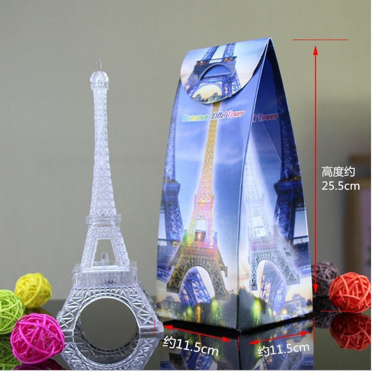 Creative Gifts Valentine's Day Romantic Shining Eiffel Iron Tower Colorful Glowing Night Lights Paris Eiffel Tower LED Light