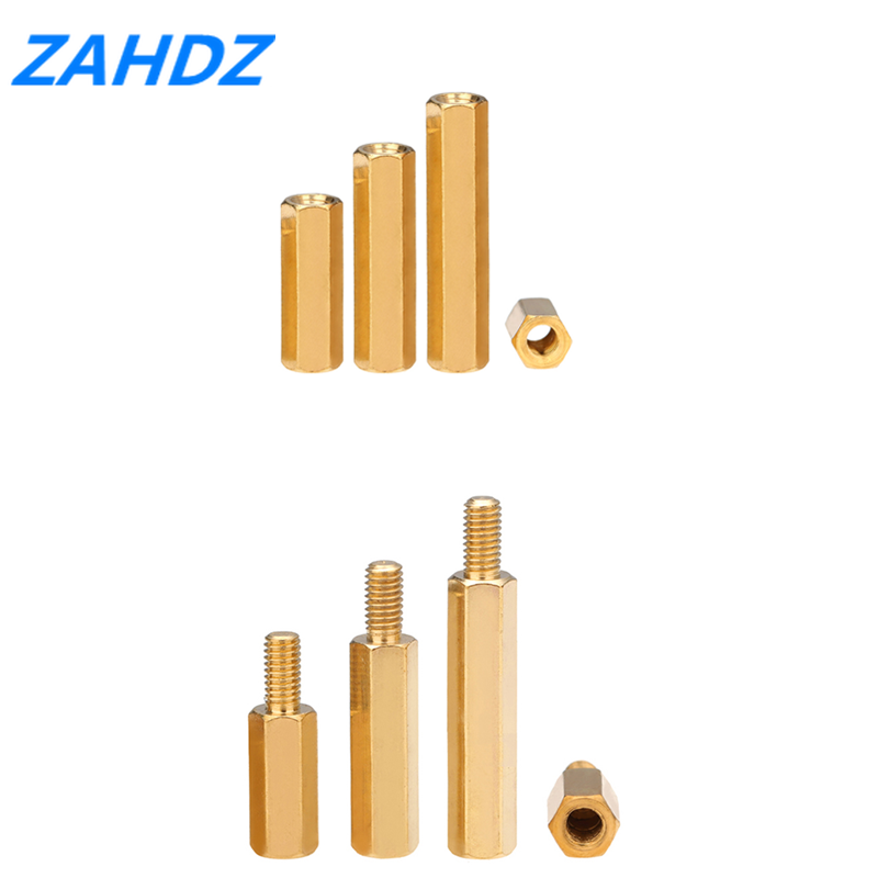 20/50pcs <font><b>Brass</b></font> M2 M2.5 M3 <font><b>M4</b></font> Copper Hex <font><b>Standoff</b></font> Hexagon Pillar M-F Male-Female Female Spacer for PCB Board Motherboard image