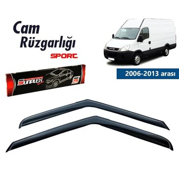 Rain Window Visor Wind Deflectors For Iveco Daily Accessories 2006-2013 Piano Black 2 pcs free ship turbo cartridge chra core gt2256v 751758 751758 0001 707114 for iveco daily for renault mascott 00 8140 43k 4000 2 8l