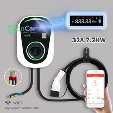 DUOSIDA Type 2 EV Charger Electric Vehicle Charging Station with IEC 62196-2 Cable 32A 7kW WIFI Model