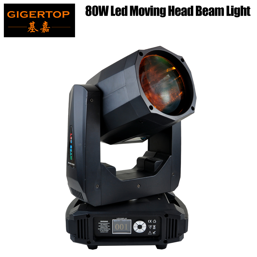 TIPTOP 80W LED Moving Head Beam Disco Light Projector Lyre DMX512 Control Stage Party Background Beam Effect Lighting LEDs